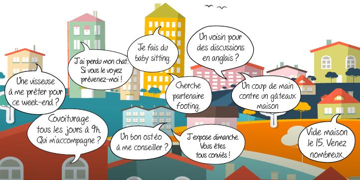 R seau social de voisinage site entraide et services entre voisins - Solidarite entre voisins ...